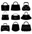 Handbags Silhouettes vector image