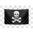 hanging pirate flag happy roger vector image vector image