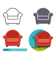 icons of the armchair vector image vector image