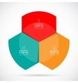Infographic circular template vector image vector image