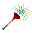 isolated party trumpet icon vector image vector image