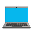 laptop computer device vector image vector image