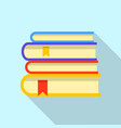 library icon flat style vector image vector image