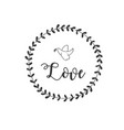 love bird grass circle frame background ima vector image vector image