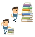 mechanic with books vector image vector image