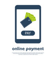 mobile online payment concept i vector image vector image