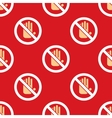 No entry hand stop pattern vector image
