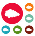 overcast icons circle set vector image vector image