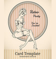 pin-up card template vector image vector image
