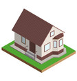 private house mansion isometric projection vector image