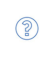 question line icon concept question flat vector image vector image