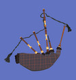scottish bagpipe flat vector image vector image