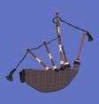 scottish bagpipe flat vector image