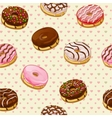 Seamless pattern with colorful tasty donuts vector image vector image