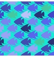 seamless pattern with scalar fishes vector image vector image