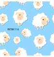 Seamless texture with cute sheep vector image vector image