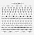 set hand drawn line borders vector image vector image