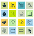 set of 16 internet icons includes website page vector image vector image