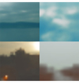 Set of blurred backgrounds landscape vector image