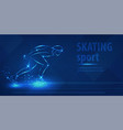 short track skating sport speed ice skating race vector image vector image
