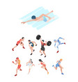 sport players isometric characters peoples vector image vector image