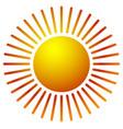 sun clip-art with warm orange gradient sun icon vector image
