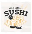 sushi retro emblem vector image vector image