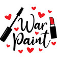war paint on white background vector image vector image