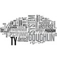 who is ty coughlin text word cloud concept vector image vector image