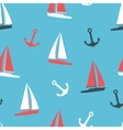 yachts and anchor silhouettes vector image