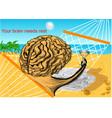 your brain needs rest vector image
