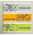 Abstract lines on color background Three banner vector image