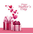 happy mothers day invitation decoration hearts vector image