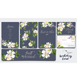 A set of cards for the wedding Watercolor vector image