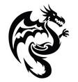 flying dragon tattoo vintage engraving vector image
