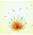 Abstract yellow lotus flower vector image