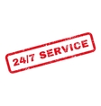 24-7 service text rubber stamp