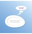 Abstract design speech bubble vector image