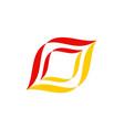 abstract shape colored company logo vector image