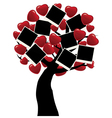 abstract tree heart vector image vector image