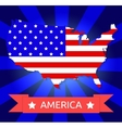america flag on american territory vector image