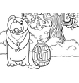 bear with honey cartoon vector image