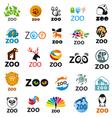 big set logos zoo vector image