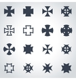 black choppers crosses icon set vector image vector image