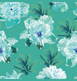 blue peonies abstract seamless background vector image vector image