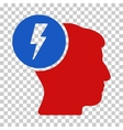 Brain Electricity Icon vector image vector image