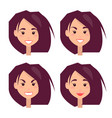 bright portraits of young girl vector image vector image