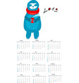 calendar for 2019 with a vector image
