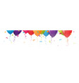 celebration balloons with confetti vector image vector image
