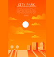 city park flat vector image